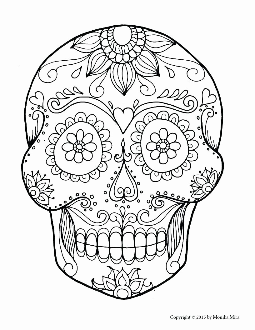 Sugar Skull Template Printable Luxury Sugar Skull Drawing Template at Getdrawings