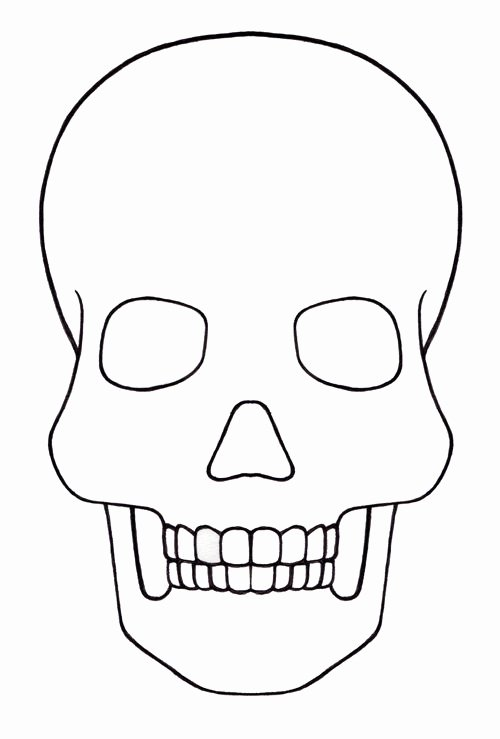 Sugar Skull Template Printable New Skull Template Mini Day Of the Dead Mexico