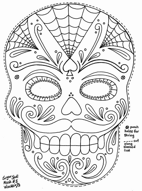 Sugar Skull Template Printable New Sugar Skull Template Skull