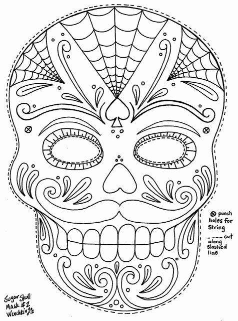 Sugar Skull Template Printable New Sugar Skull Template Skull