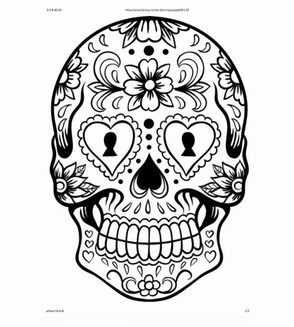 Sugar Skull Template Printable Unique Skull Drawing Template – 14 Free Pdf Documents Download