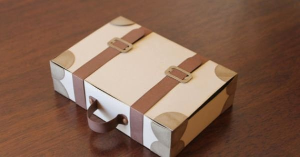 Suitcase Favor Box Template Elegant Suitcase Favour Boxes for Possible Leaving Party