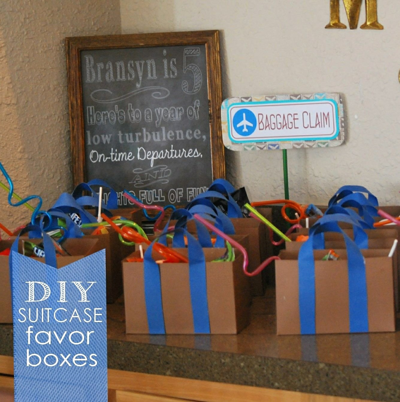 Suitcase Favor Box Template New An Easy Airplane Party with Diy Suitcase Favor Boxes