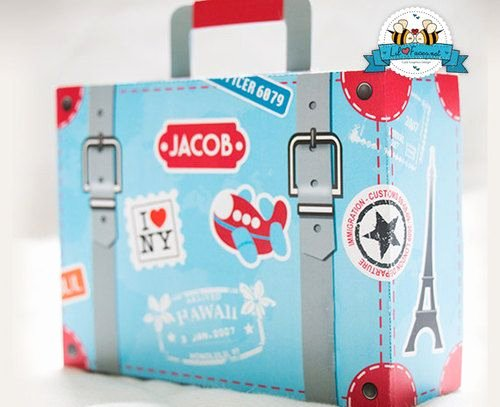 Suitcase Favor Box Template Unique Editable Airplane Party Suitcase Favor Box Instant