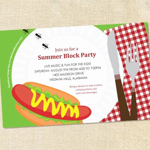 Summer Party Invitation Wording Awesome Best 25 Block Party Invites Ideas On Pinterest
