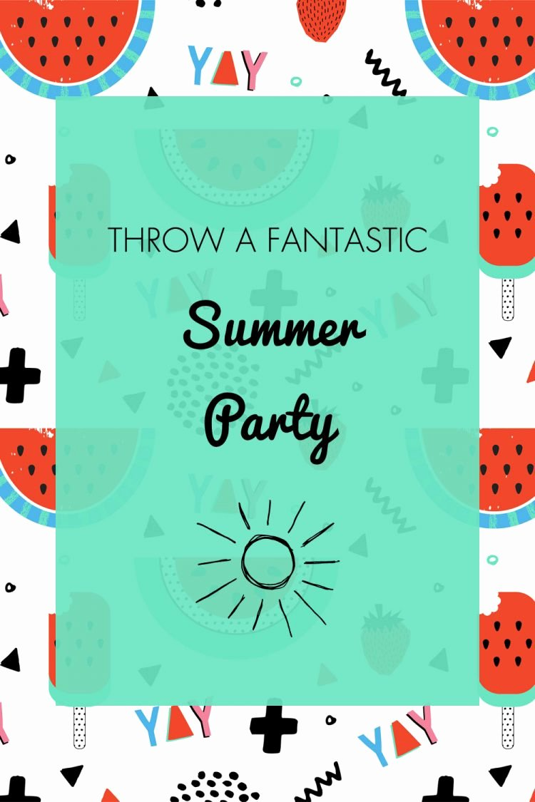 Summer Party Invitation Wording Beautiful Summer Party Ideas Invitation & Free Printables Oh My