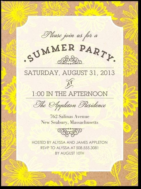 Summer Party Invitation Wording Fresh Best 25 Summer Party Invites Ideas Only On Pinterest