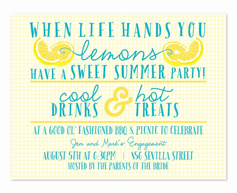 Summer Party Invitation Wording Fresh Life Of Lemons Party Invitations by Invitation