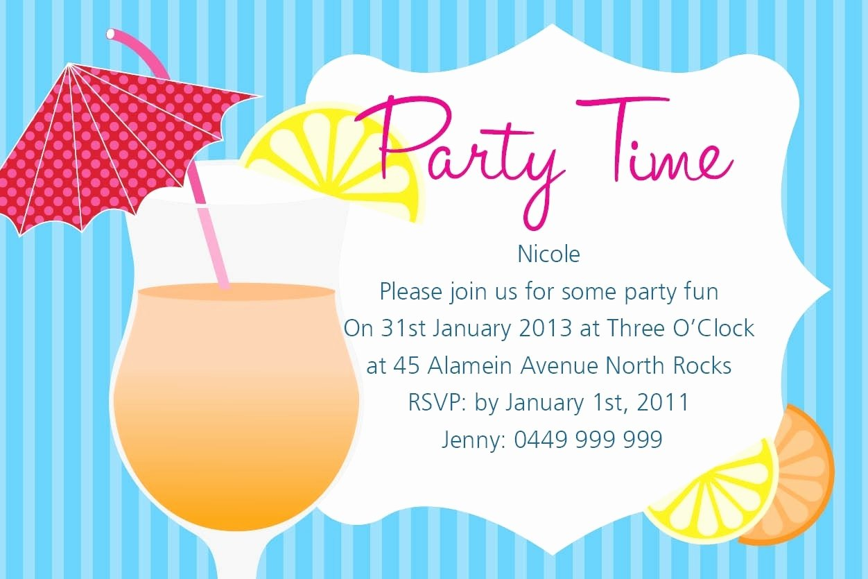 Summer Party Invitation Wording Fresh Summer Party Invitation Wording Cobypic
