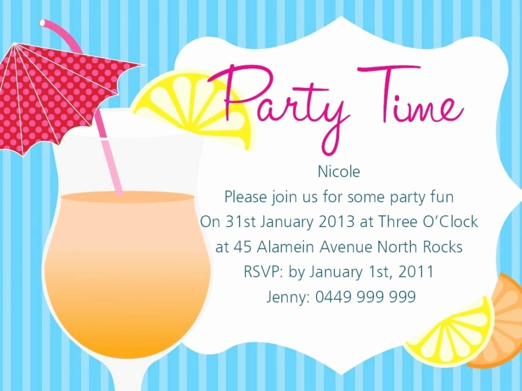 Summer Party Invitation Wording Luxury Summer Party Invitation Wording Cobypic