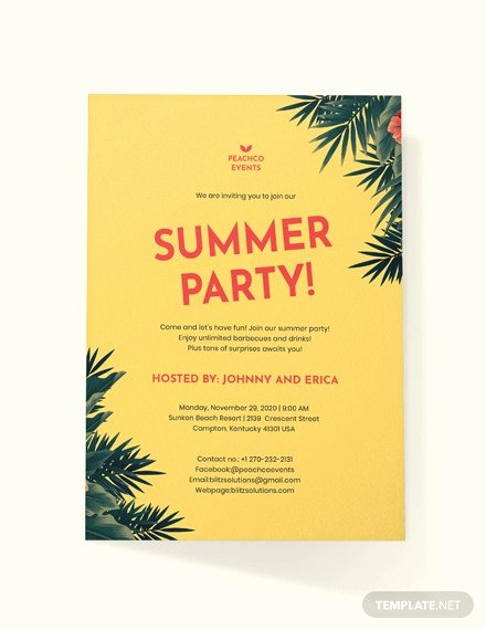 Summer Party Invitation Wording New 18 Summer Party Invitations Psd Ai Eps