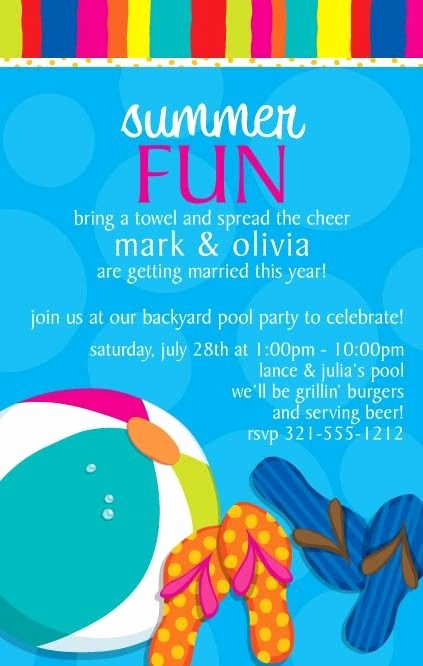 Summer Pool Party Invitations Elegant 14 Best Images About Pool Party Invitations On Pinterest