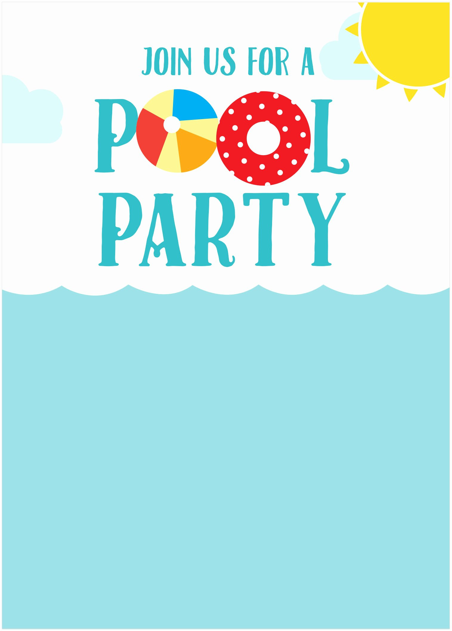 Summer Pool Party Invitations Elegant 45 Pool Party Invitations