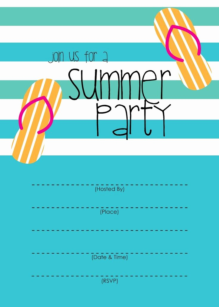 Summer Pool Party Invitations Fresh Best 25 Summer Party Invites Ideas On Pinterest