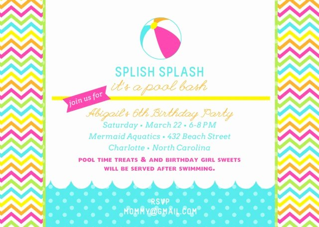Summer Pool Party Invitations Lovely Popular themes for Summer Parties anders Ruff Custom