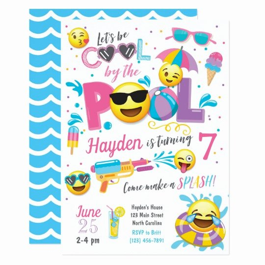 Summer Pool Party Invitations New Beach Chair Retirement Party Invitation