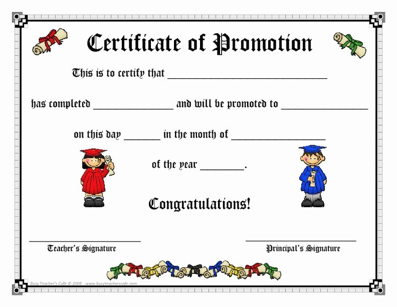 Sunday School Promotion Certificates Best Of Certificate Of Promotion Printables & Template for Pre K