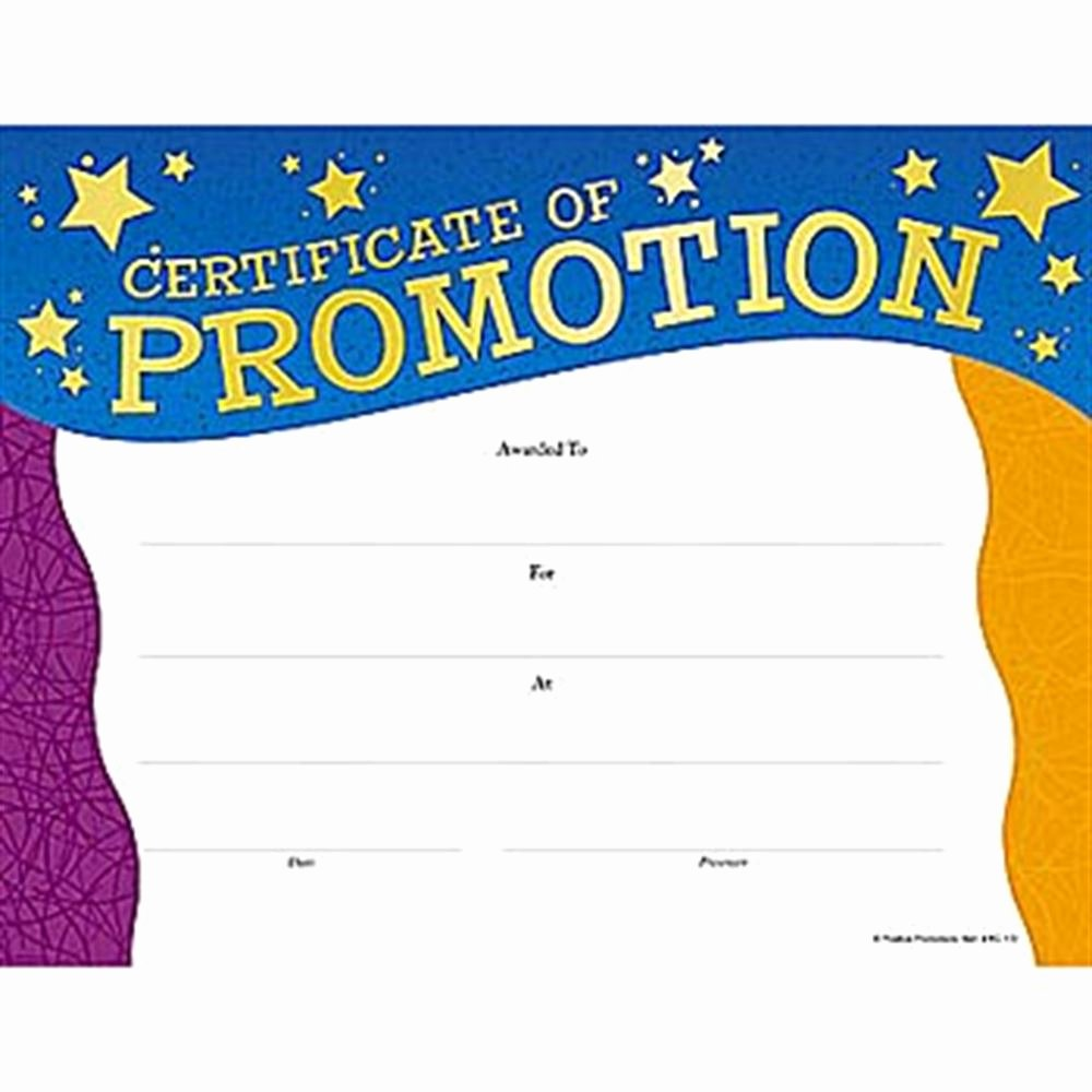 Sunday School Promotion Certificates Elegant Promotion Gold Foil Stamped Certificates