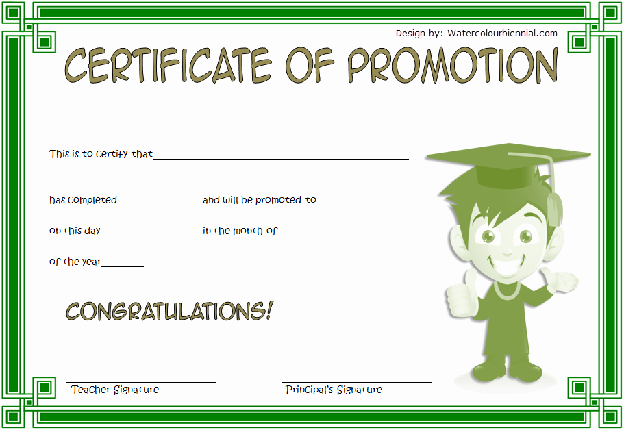 Sunday School Promotion Certificates Fresh School Promotion Certificate Template [10 New Designs Free]