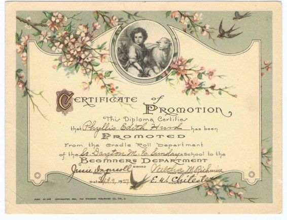 Sunday School Promotion Certificates Inspirational Vintage Religion Archives • Page 3 Of 6 • are You there