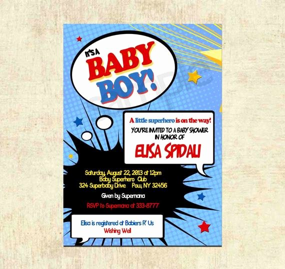 Superhero Baby Shower Invitations Free Awesome Items Similar to Baby Shower Invitation Superhero Baby