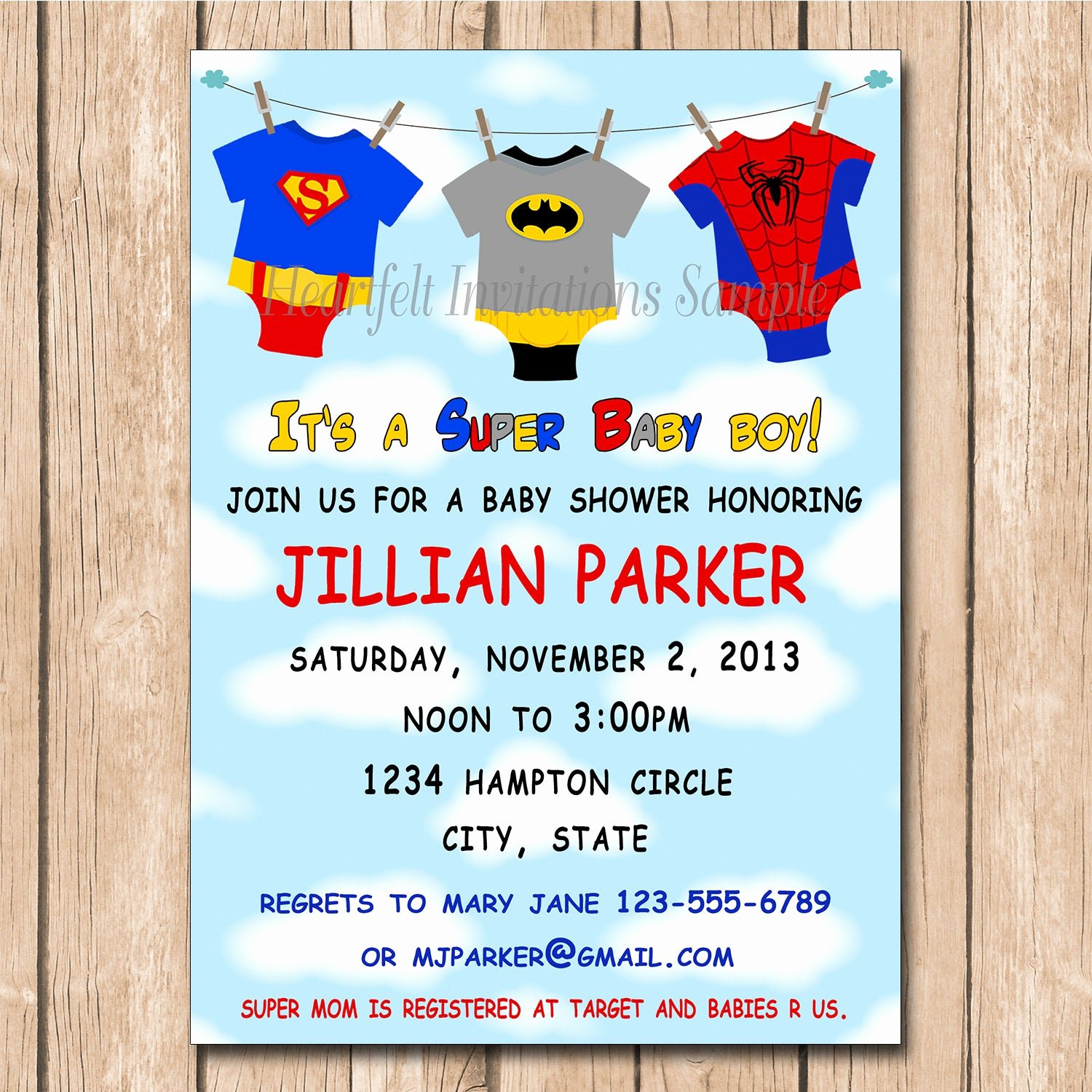 Superhero Baby Shower Invitations Free Awesome Super Baby Shower Invitation Super Hero by