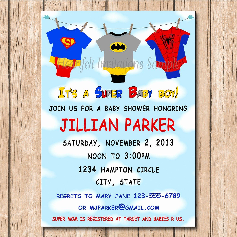 Superhero Baby Shower Invitations Free Awesome Super Baby Shower Invitation Super Hero by