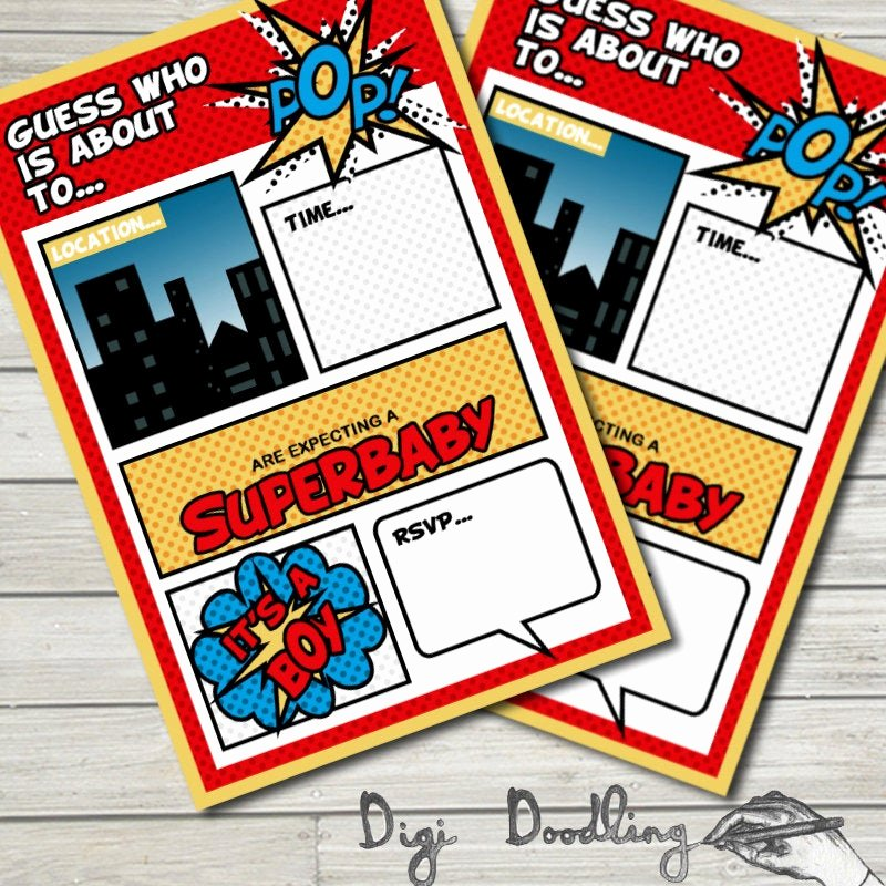 Superhero Baby Shower Invitations Free Awesome Superhero Baby Shower Invitations Printable Editable Baby