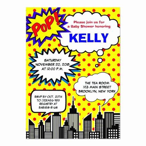 Superhero Baby Shower Invitations Free Beautiful Super Hero Baby Shower Invitations Ic Book