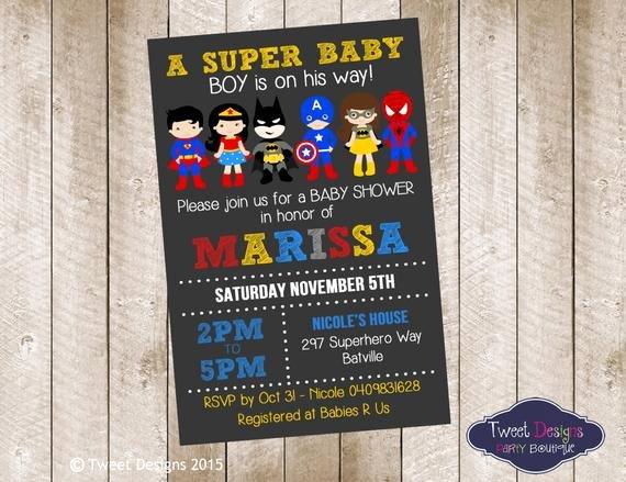 Superhero Baby Shower Invitations Free Beautiful Superhero Baby Shower Invitation Printable by