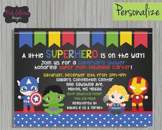 Superhero Baby Shower Invitations Free Beautiful Superhero Shower Superhero Baby Shower Superhero Baby Shower
