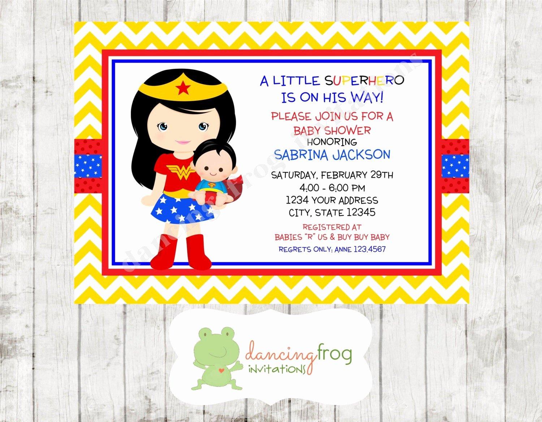 superhero boy baby shower invitation