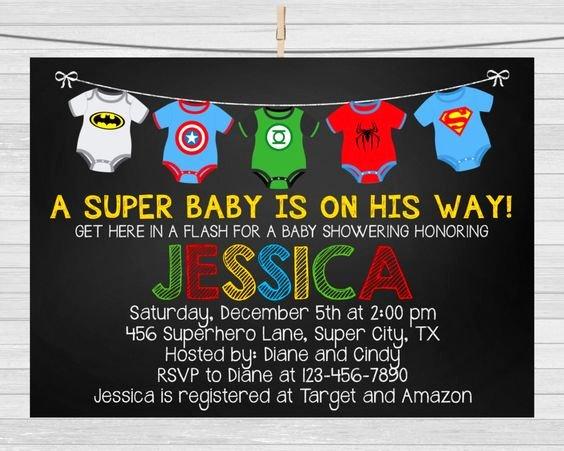 Superhero Baby Shower Invitations Free Inspirational Superhero Baby Shower Invitation Templates Party Xyz