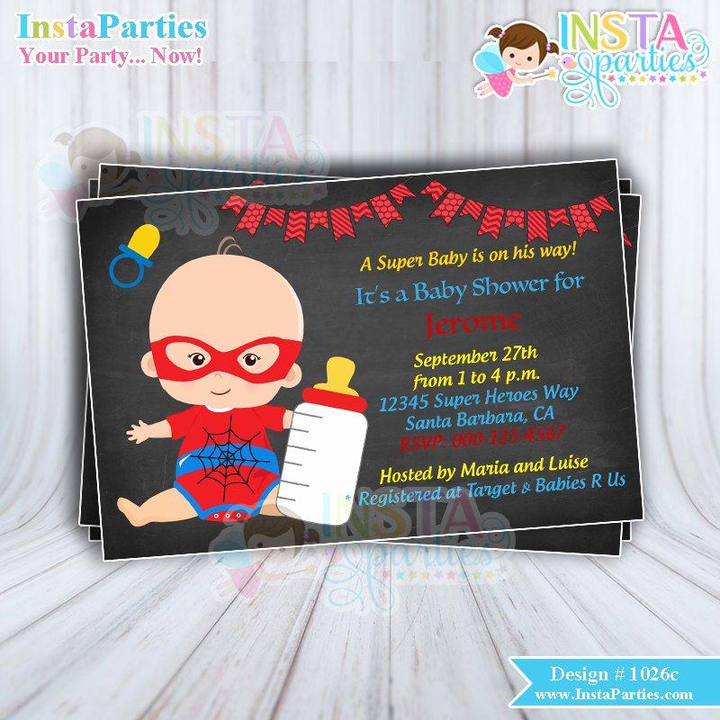 Superhero Baby Shower Invitations Free Lovely Superhero Baby Shower Invitations Boy Superheroes
