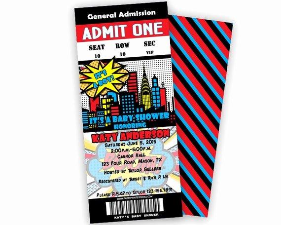 Superhero Baby Shower Invitations Free Luxury Superhero Baby Shower Invitation Superhero by