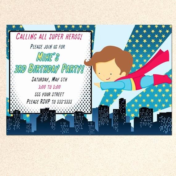 Superhero Baby Shower Invitations Free Luxury Superhero Birthday Invitation Card Baby Boy by Pinkthecat