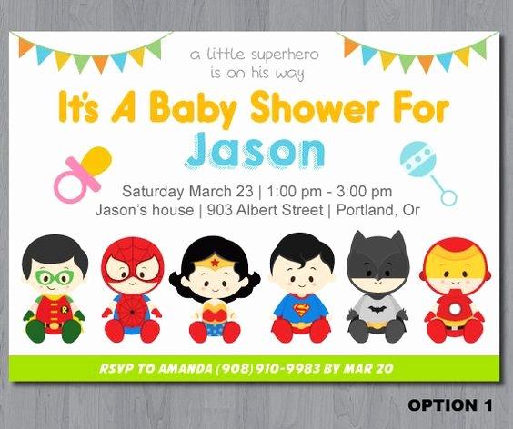Superhero Baby Shower Invitations Free New Superhero Baby Shower Invitation Templates