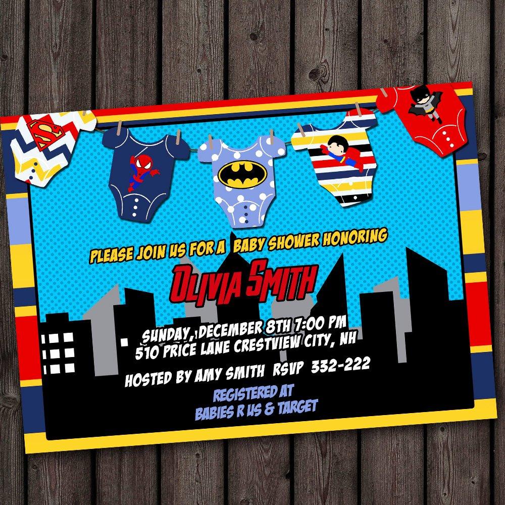 Superhero Baby Shower Invitations Free Unique Superhero Baby Shower Invitation Super Hero Baby Shower
