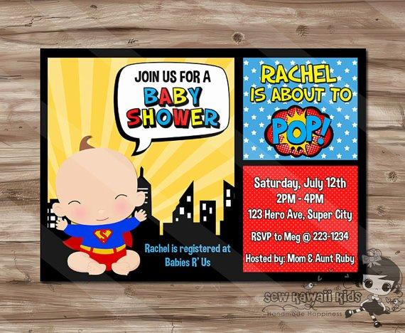 Superhero Baby Shower Invitations Free Unique Superhero Baby Shower Invitation Superhero Invite