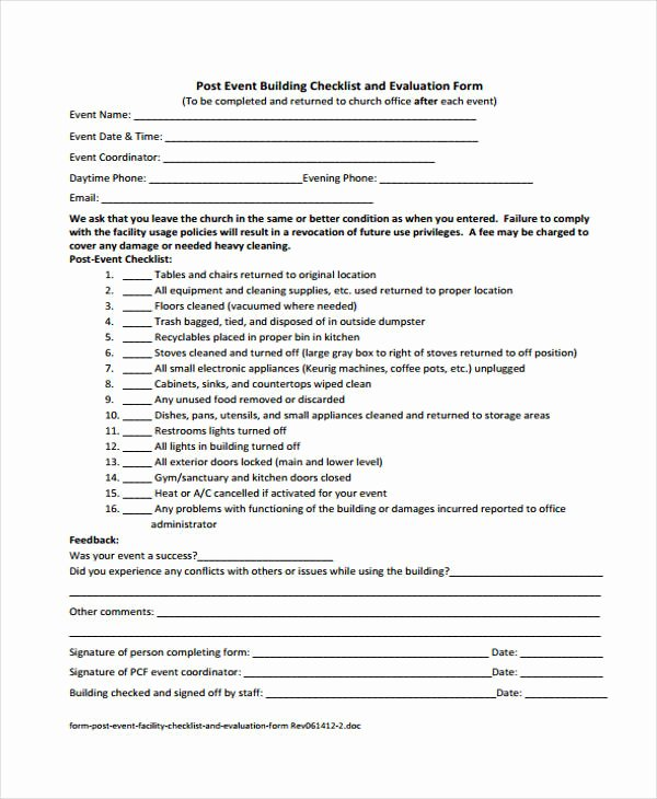 Supervised Visitation Report Template New Free 29 event Evaluation form Templates