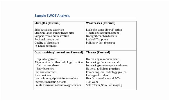 Swot Analysis Example for Healthcare Elegant Case Study Swot Analysis Pdf there Was A Problem