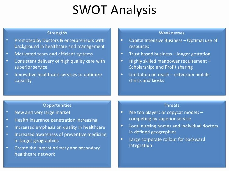 Swot Analysis Example for Healthcare Inspirational Vaatsalya A Healthcare social Enterprise