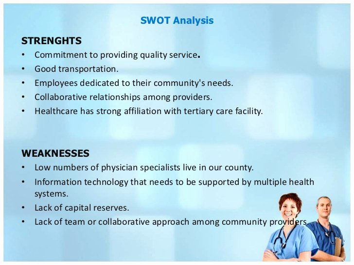 Swot Analysis Example for Healthcare Lovely Healthcare Industry