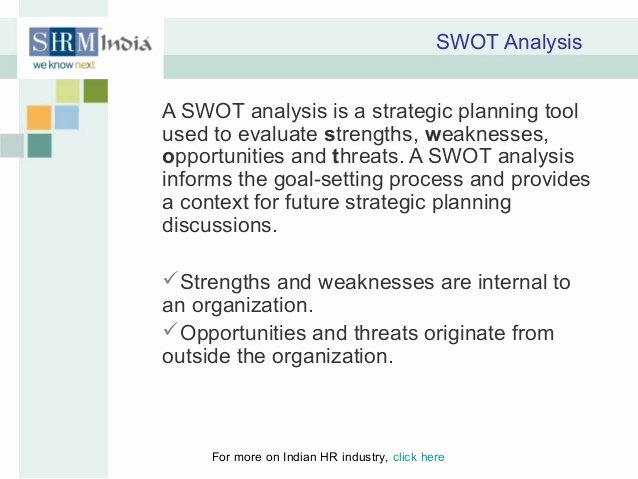 Swot Analysis for Hr Department Awesome Hr and organization Strategy
