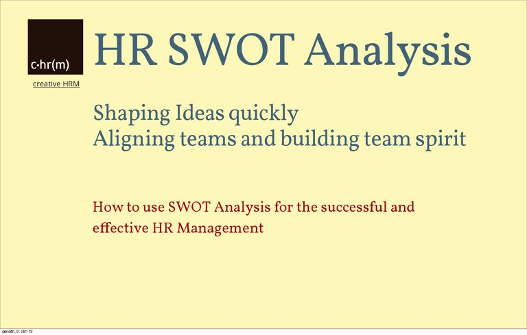 Swot Analysis for Hr Department Beautiful Hr Swot Analysis Introduce Effective Hr Management
