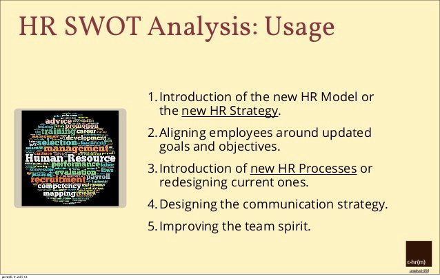 Swot Analysis for Hr Department Elegant Hr Swot Analysis Introduce Effective Hr Management