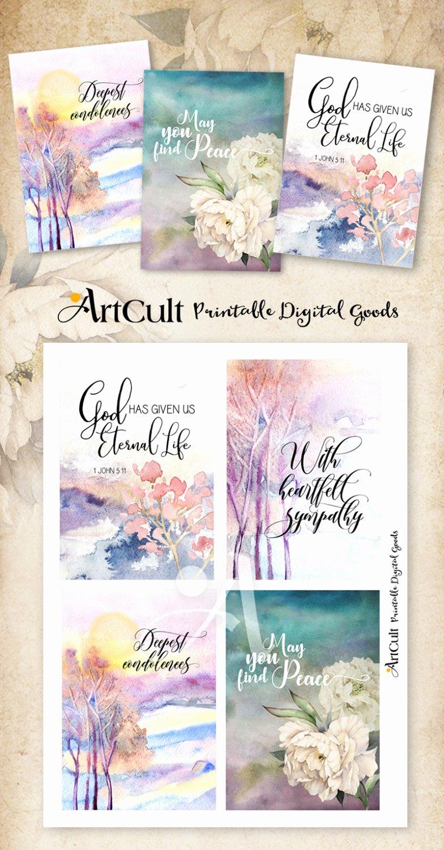 Sympathy Cards Free Printable Beautiful Printable Sympathy Condolence Cards No 2 Digital
