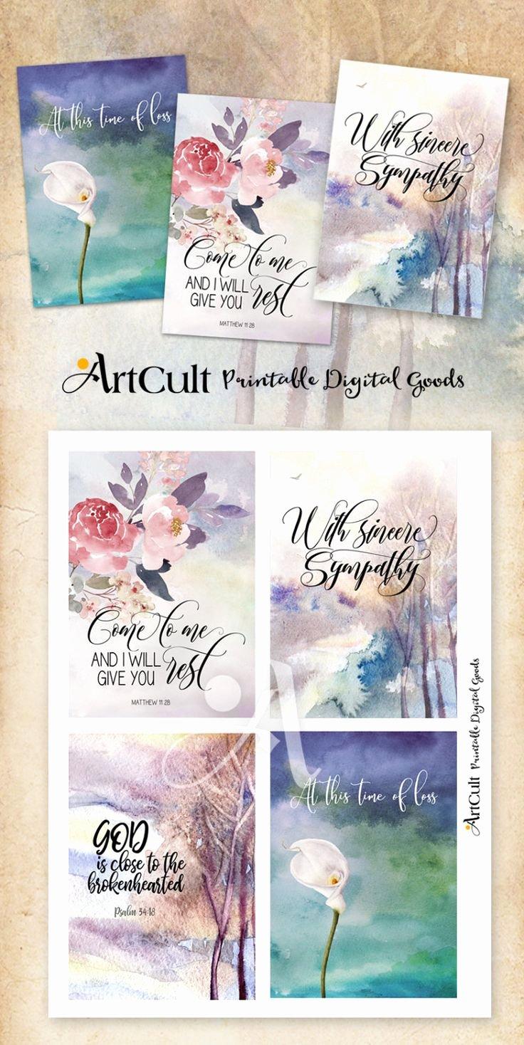 Sympathy Cards Free Printable New Printable Sympathy Condolence Cards No 1 Digital