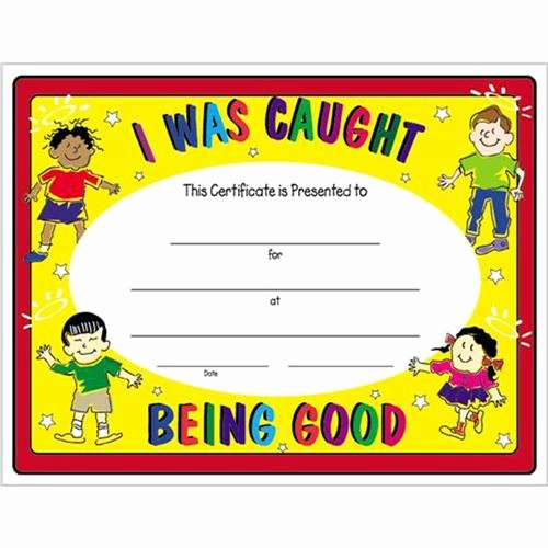 T Ball Award Certificates Awesome I Was Caught Being Good Certificate 8 1 2 X 11 I Was