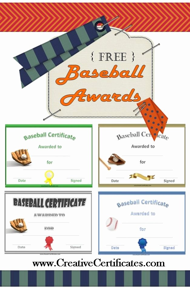T Ball Award Certificates Beautiful Free Printable Baseball Awards and Certificates
